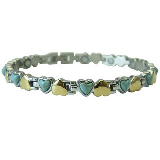 Small Hearts Turquoise Magnetic Bracelet