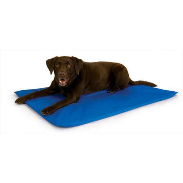 Shop K Amp H Cool Bed Iii Large Blue Cooling Pet Bed Free Shipping Today Overstock 5137452