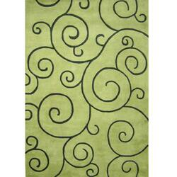 Alliyah Handmade Lime Green New Zealand Blend Wool Rug(8' x 10') https://ak1.ostkcdn.com/images/products/5137458/Hand-tufted-Sarah-Scrolls-Green-Wool-Rug-8-x-10-P12982968.jpg?impolicy=medium