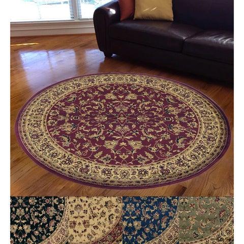 Admire Home Living Caroline Sarouk Round Oriental Rug (5'3 x 5'3)