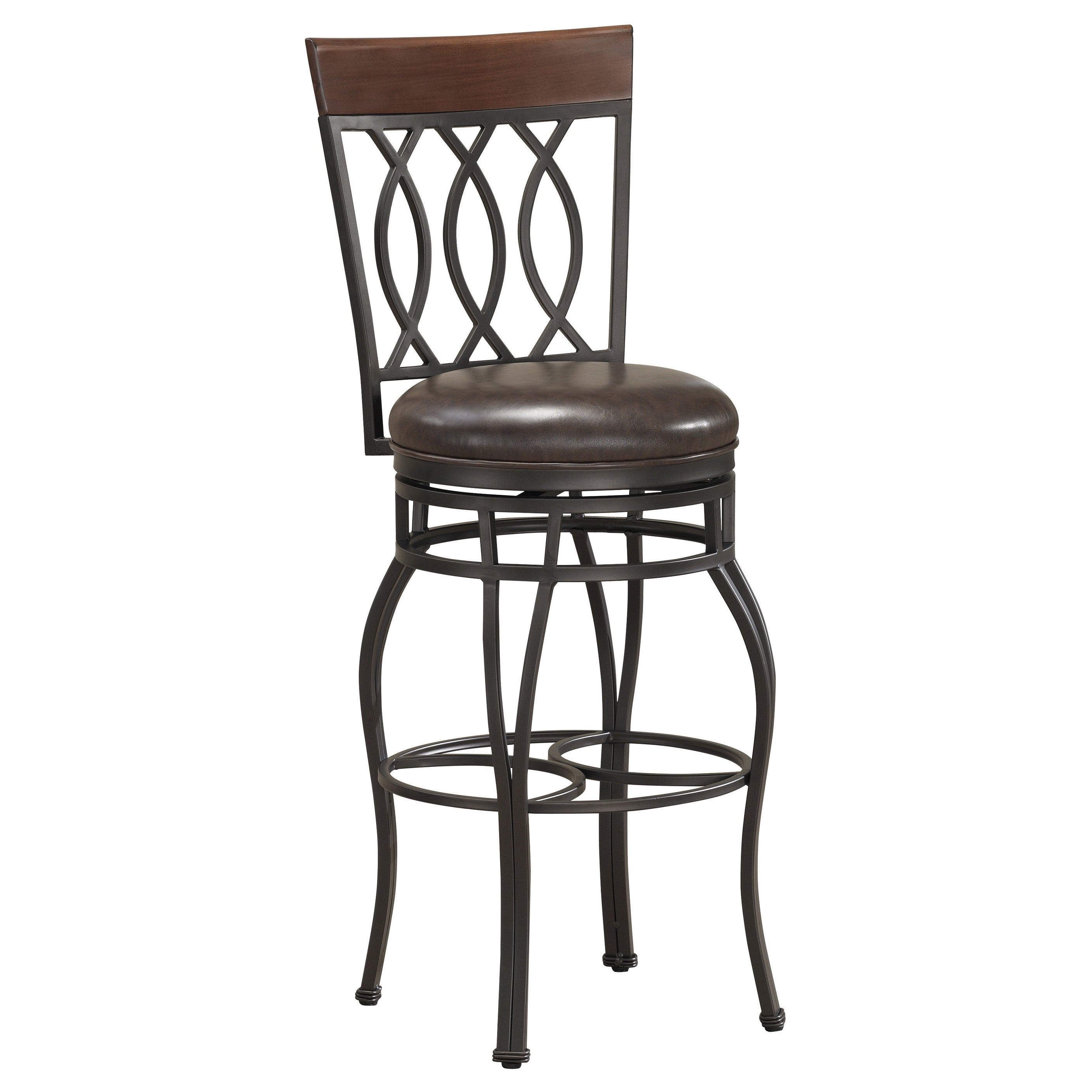 34 inch bar stools Shop Gracewood Hollow Fitzgerald 34 inch Swivel Bar Stool   Free  34 inch bar stools
