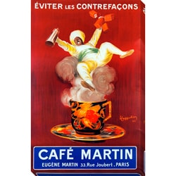 Gallery Direct Leonetto Cappiello 'Cafe Martin' Oversized Gallery Wrapped Canvas Print