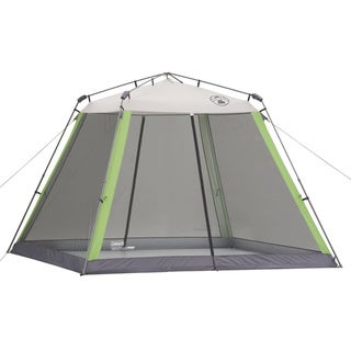 Coleman 10x10-foot Instant Screen Shelter - White/Black/Light Green/Grey - 10' x 10'