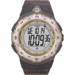 Timex T427619J Men's Expedition Digital Compass CAT Brown Leather Strap Watch - Thumbnail 2