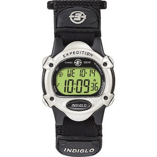 Timex Unisex T47852 Expedition Digital CAT Black Fast Wrap Hook and Loop Strap Watch