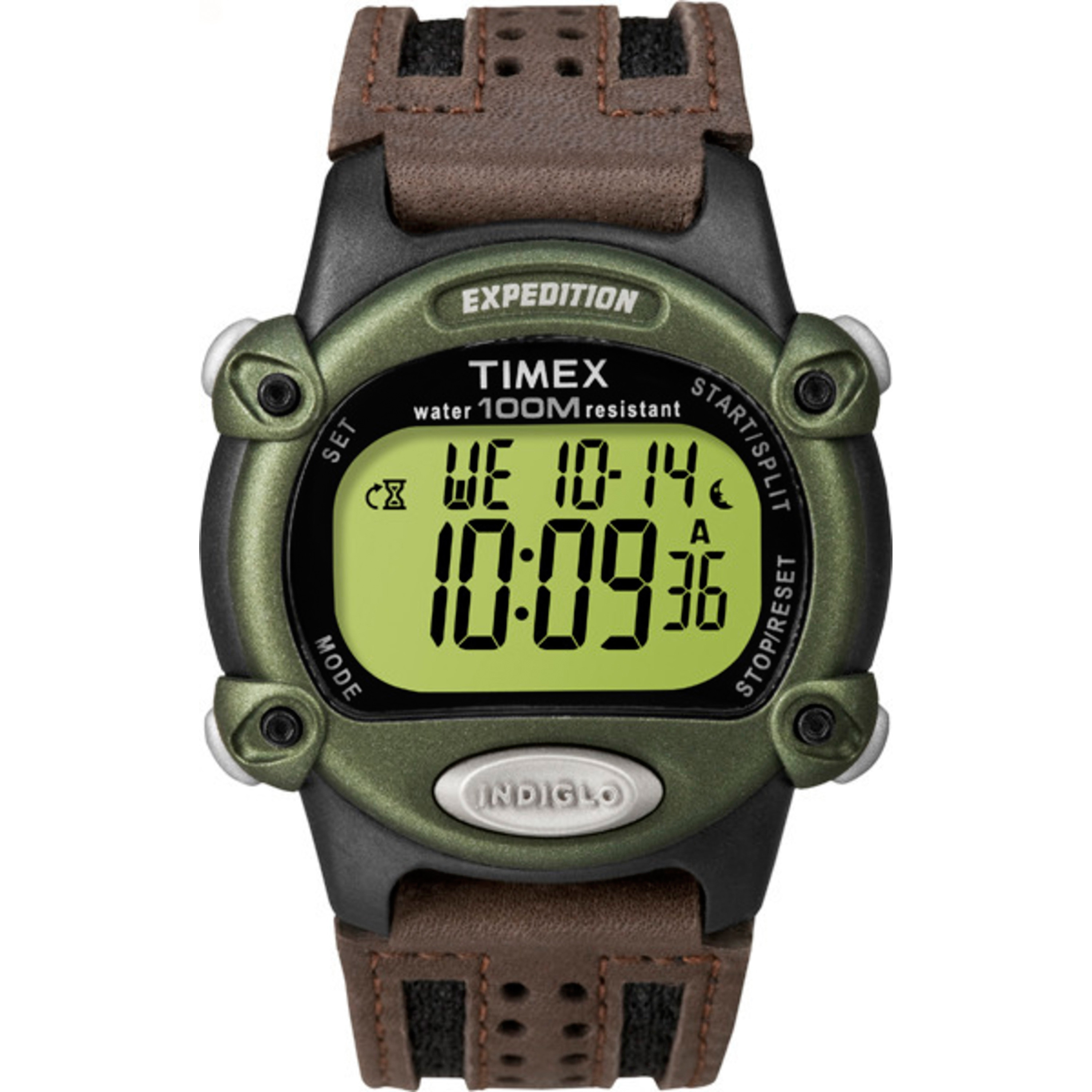 Timex Men's T48042 Expedition Digital CAT Green/Brown Nyl...