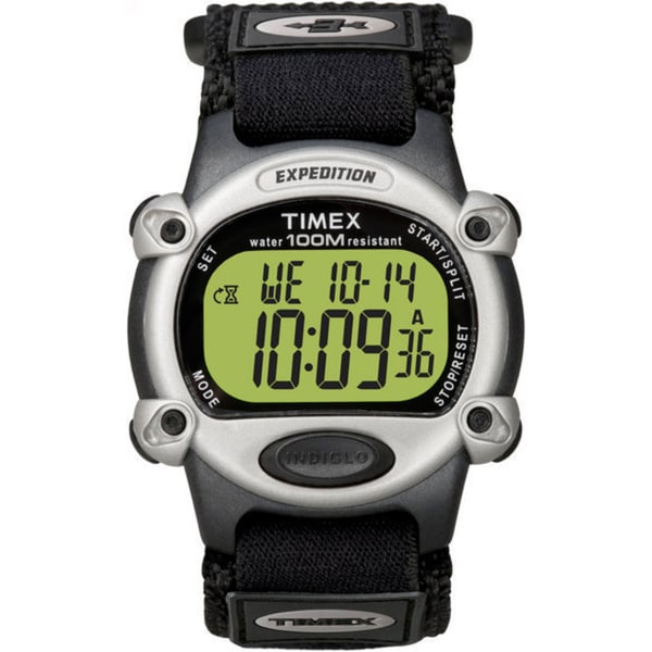 Men's Timex Expedition Digital Shock Green Band Watch ... |Timex Expedition Digital Watches Men