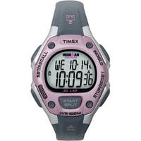 Timex Women's T5K020 Ironman Traditional 30-Lap Pink/Grey Watch - grey