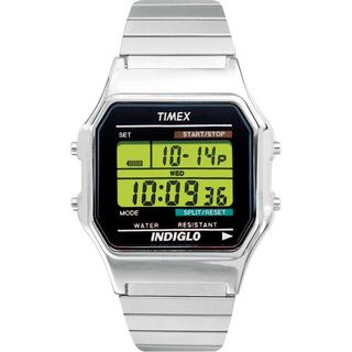 Timex Men's T78582 Classic Digital Dress Stainless Steel Expansion Band Watch - silver