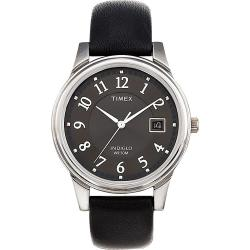 Timex T293219J Men's Elevated Classics Dress Black Leather Strap Watch - Thumbnail 1