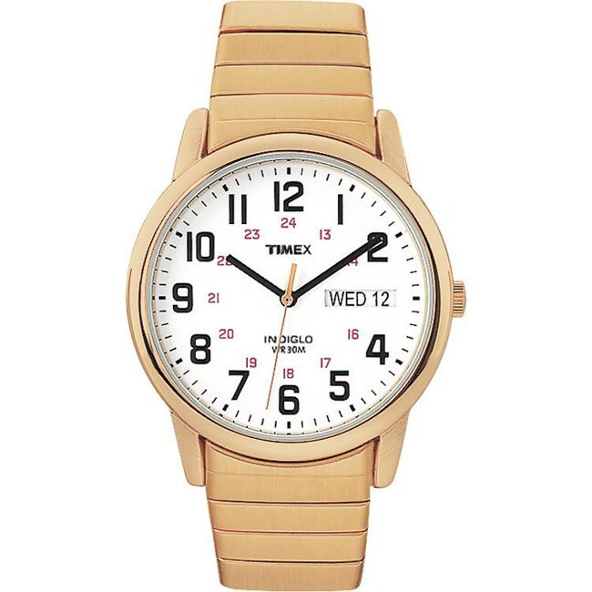 Timex Men's T20471 Easy Reader Goldtone Stainless Steel E...
