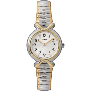 Timex T218549J Women's Elevated Classics Stainless Steel Expansion Band Watch