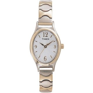 Timex Women's T26301 Elevated Classics Dress Stainless Steel Expansion Band Watch - Two-tone