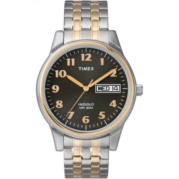 78d03914c Shop Timex Men's T26481 Elevated Classics Stainless Steel Expansion Band  Watch - Free Shipping Today - Overstock - 5142894