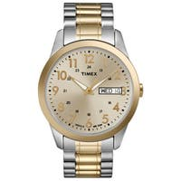 Timex Men's T2M935 Elevated Classics Dress Stainless Steel Expansion Band Watch