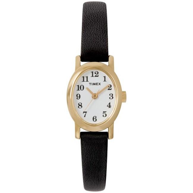 Timex Women's T2M566 Cavatina Black Leather Strap Watch