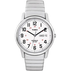 Timex Men's Easy Reader Stainless Steel Expansion Band Watch