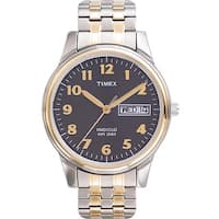 Timex  Men's Elevated Classics Dress Stainless Steel Expansion Band Watch