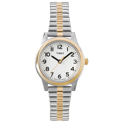 Timex Women's T2N068 Essex Avenue Two-Tone Stainless Steel Expansion Band Watch