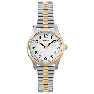 Timex T2N0689J Women's Elevated Classics Dress Stainless Steel Expansion Watch