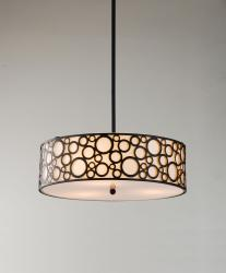Indoor 3-light Black Pendant Chandelier - Thumbnail 1