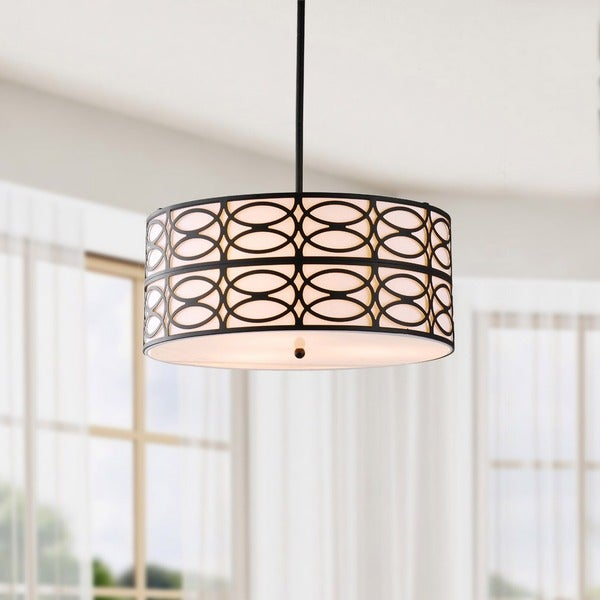 Indoor 3-light Black Pendant Chandelier  sc 1 st  Overstock & Indoor 3-light Black Pendant Chandelier - Free Shipping Today ... azcodes.com