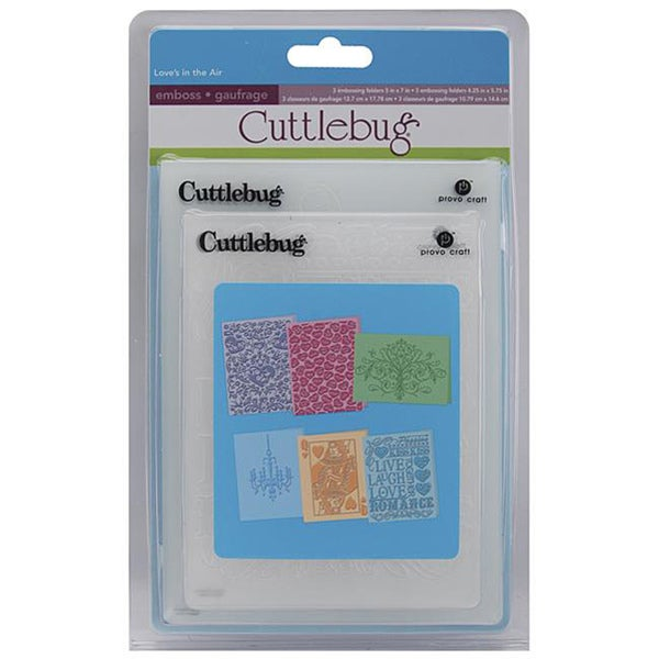 Cuttlebug 'Love's In The Air' Embossing Folders