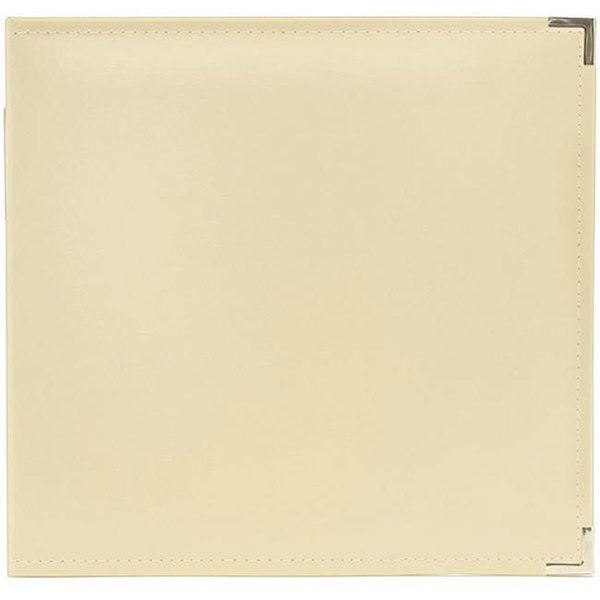 We R Memory Keepers Faux Leather Vanilla 3-Ring Binder