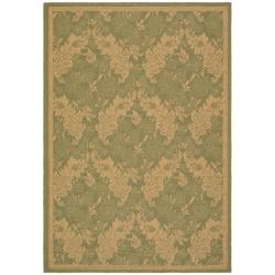 "Safavieh Courtyard Divine Green/ Natural Indoor/ Outdoor Rug (6'7"" x 9'6"")"