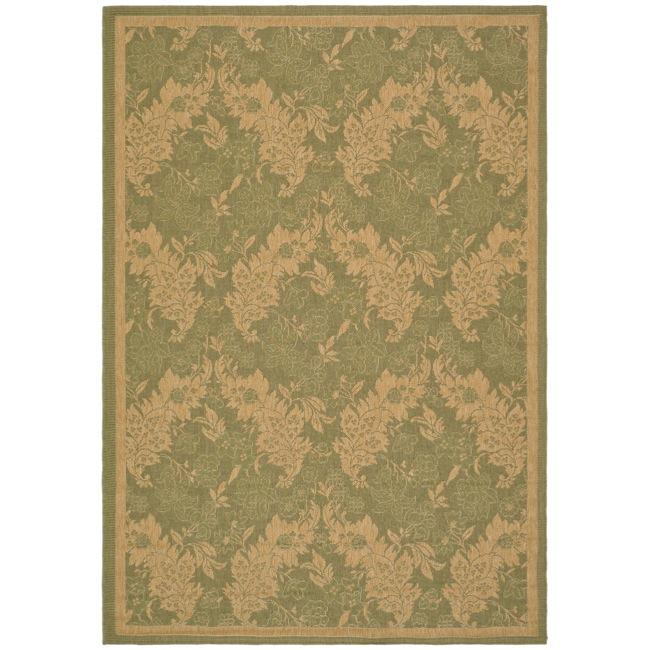 Safavieh Courtyard Divine Green/ Natural Indoor/ Outdoor Rug (8' x 11')