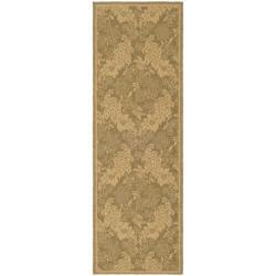 Safavieh Indoor/ Outdoor Gold/ Natural Rug (2'4 x 6'7)