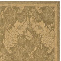 "Safavieh Courtyard Divine Gold/ Natural Indoor/ Outdoor Rug (4' x 5'7"") - Thumbnail 1"