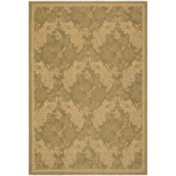 "Safavieh Courtyard Divine Gold/ Natural Indoor/ Outdoor Rug (4' x 5'7"")"