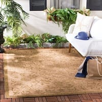 "Safavieh Courtyard Graceful Natural/ Golden Indoor/ Outdoor Rug - 5'-3"" x 7'-7"""