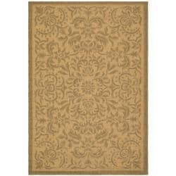 "Safavieh Courtyard Graceful Natural/ Golden Indoor/ Outdoor Rug (6'7"" x 9'6"")"