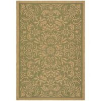 Safavieh Courtyard Graceful Green/ Natural Indoor/ Outdoor Rug - 2'7 x 5'