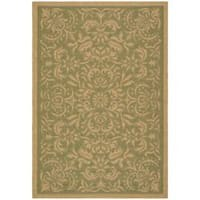 Safavieh Courtyard Graceful Green/ Natural Indoor/ Outdoor Rug - 4' x 5'7
