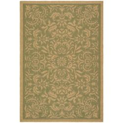 Safavieh Courtyard Graceful Green/ Natural Indoor/ Outdoor Rug - 6'7 x 9'6