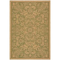 "Safavieh Courtyard Graceful Green/ Natural Indoor/ Outdoor Rug - 6'7"" x 9'6"""