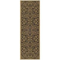 Safavieh Courtyard Graceful Black/ Natural Indoor/ Outdoor Runner - 2'2 x 9'11