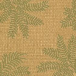 Safavieh Courtyard Ferns Natural/ Green Indoor/ Outdoor Rug (6'7 x 9'6) - Thumbnail 2
