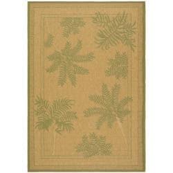 Safavieh Courtyard Ferns Natural/ Green Indoor/ Outdoor Rug (8' x 11') - Thumbnail 0