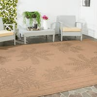 Safavieh Courtyard Ferns Natural/ Gold Indoor/ Outdoor Rug - 9' x 12'