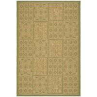 Safavieh Contemporary Indoor/Outdoor Green/Natural Rug - 7'10 x 11'