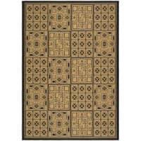 Safavieh Black/Natural Indoor/Outdoor Geometric-Patterned Rug - 2'7 x 5'
