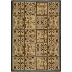 "Safavieh Large Indoor/Outdoor Black/Natural Rug (6'7"" x 9'6"")"