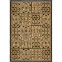 Safavieh Black/Natural Indoor/Outdoor Polypropylene Rug - 8' x 11'