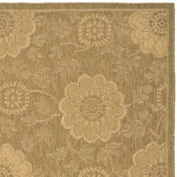 "Safavieh Indoor/Outdoor Gold/Natural Machine-Made Rug (4' x 5'7"") - Thumbnail 1"