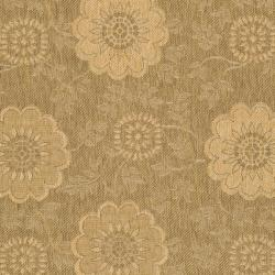 "Safavieh Indoor/Outdoor Gold/Natural Machine-Made Rug (4' x 5'7"") - Thumbnail 2"