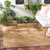 Safavieh Indoor/Outdoor Gold/Natural Machine-Made Rug - 4' x 5'7""